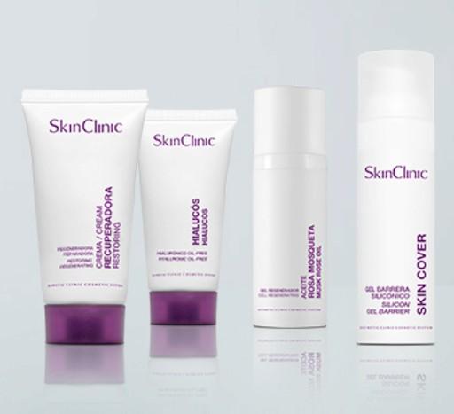 Комплексный уход за лицом косметикой SkinClinic